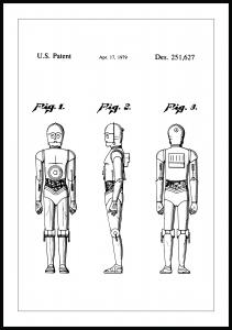 Lagervaror egen produktion Patent drawing - Star Wars - C-3PO