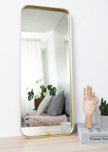 Hübsch Mirror Square Brass 31x76 cm