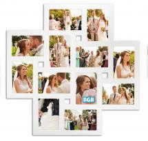 Milano Collage frame Plexiglass White - 12 Pictures