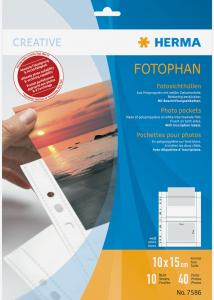 Difox Herma photo sleeves 10x15 cm horizontal - 10-pack white