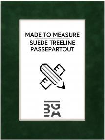 Egen tillverkning - Passepartouter Mount Suede Treeline - Custom Size