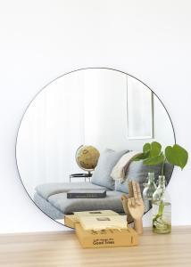 House Nordic Mirror Jersey Black 80 cm Ø