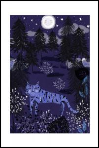 Bildverkstad Night Tigers Poster