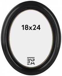 Estancia Eiri Mozart Oval Black 18x24 cm