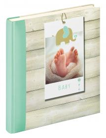 Walther Welcome Baby album Green - 28x30.5 cm (50 White pages / 25 sheets)