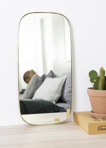 Hübsch Mirror Square Brass 29x59 cm