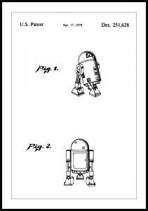 Lagervaror egen produktion Patent drawing - Star Wars - R2-D6 Poster