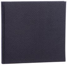 Focus Base Line Canvas Black 26x25 cm (80 White pages / 40 sheets)