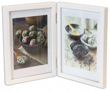 Rock White Folding picture frame 10x15 cm