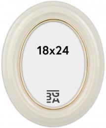 Eiri Mozart Oval White 18x24 cm