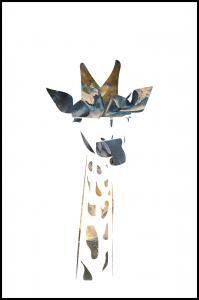 Bildverkstad Giraffe sunrise Poster