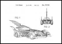 Bildverkstad Patent drawing - Batman - Batmobile 1996 I Poster