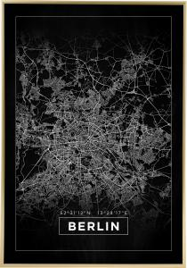 Bildverkstad Map - Berlin - Black Poster