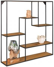House Nordic Shelf Vita 85x85 cm - Black/Oak