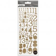 Focus Focus Glitter stickers Gold Numbers
