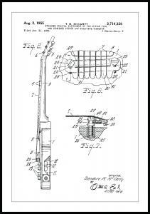 Bildverkstad Patent drawing - Electric guitar II Poster