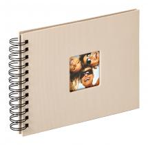 Walther Fun Spiral bound album Sand - 23x17 cm (40 Black pages / 20 sheets)