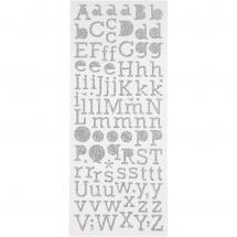 Focus Focus Glitter stickers Silver Letters