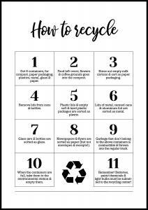 Bildverkstad How To Recycle - White
