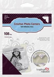 3L Creative Photo Corners White - 108 pack