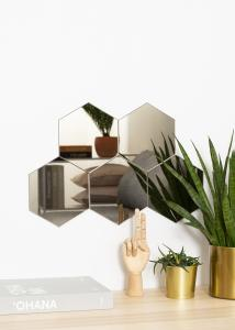 KAILA KAILA Mirror Hexagon Dark Bronze 18x21 cm - 5-pack