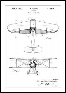 Lagervaror egen produktion Patent drawing - Biplane - White Poster