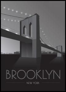Bildverkstad Brooklyn Bridge Poster