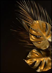 Bildverkstad Golden Monstera Poster