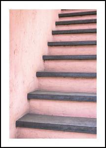 Lagervaror egen produktion Pink stairs Poster