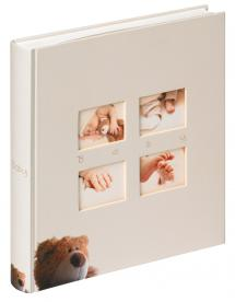 Walther Classic Bear children's album Cream - 28x30.5 cm (60 White pages / 30 sheets)