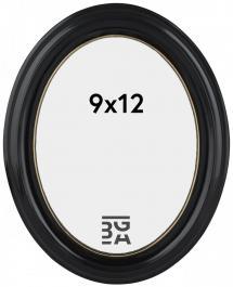 Estancia Eiri Mozart Oval Black 9x12 cm