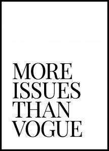 Lagervaror egen produktion More Issues Than Vogue