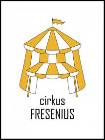 Personlig poster Circus Family Yellow