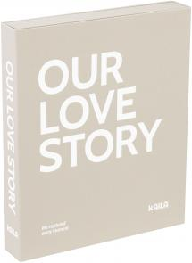 KAILA KAILA OUR LOVE STORY Grey - Coffee Table Photo Album (60 Black Pages)