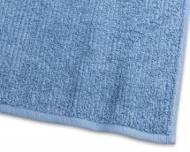 Borganäs of Sweden Guest Towel Stripe Terrycloth - Medium Blue 30x50 cm