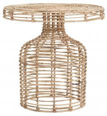 House Doctor Side Table Nature 46x46 cm - Rattan