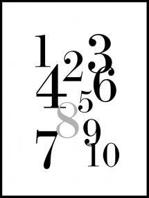 Lagervaror egen produktion 1-10 - Black/grey Poster
