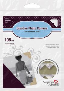 3L Creative Photo Corners Brown - 108 pack