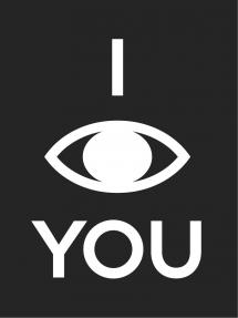 Bildverkstad I see you - Black with white print Poster