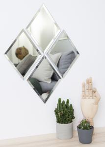 House Doctor Mirror House Doctor Diamond Clear 16x22 cm