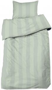 Redlunds Bedsheet set Big Stripe Satin, 2-piece - Light green