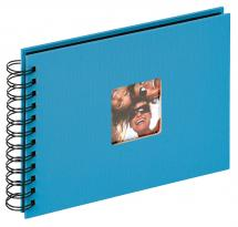 Walther Fun Spiral bound album Sea blue - 23x17 cm (40 Black pages / 20 sheets)