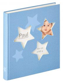 Walther Estrella Baby album Blue - 28x30.5 cm (50 White pages / 25 sheets)