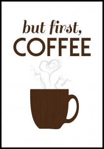 Bildverkstad But first coffee - Wood