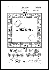 Bildverkstad Patent drawing - Monopoly I Poster