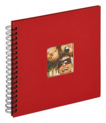 Walther Fun Spiral bound album Red - 26x25 cm (40 Black pages / 20 sheets)