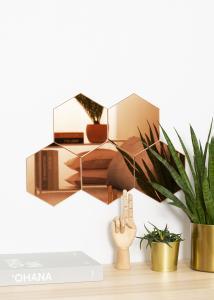 KAILA KAILA Mirror Hexagon Rose Gold 18x21 cm - 5-pack