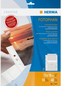 Herma photo sleeves 13x18 cm horizontal - 10-pack white