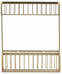 House Doctor Basket Bath Double 28x33.5 cm - Brushed brass