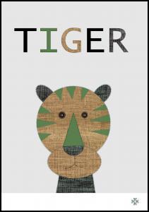 Bildverkstad Fabric tiger Poster